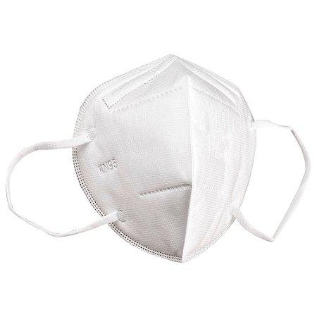 Máscara De Proteção Hospitalar KN95 Com Clip Nasal C/10 Unidades