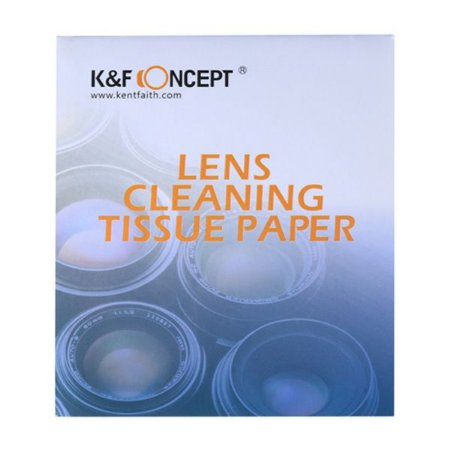 K&F Lenço de papel p/ Limpeza de lente - 50 folhas (Lens Tissue)