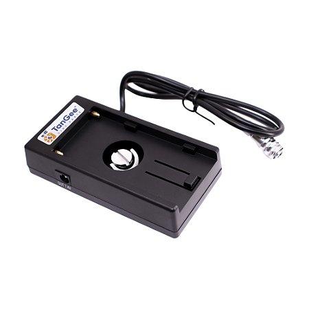 TanGee plate de baterias Sony NP-F com plug 2-PIN - Blackmagic Pocket 4K e 6K