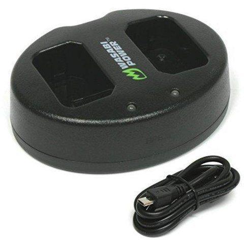 Carregador de bateria duplo Wasabi Power para bateria Sony NP-FW50