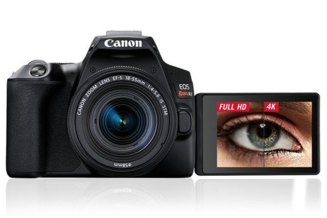 Câmera EOS Rebel SL3 4K + lente 18-55mm IS STM  (Canon) Pré-venda