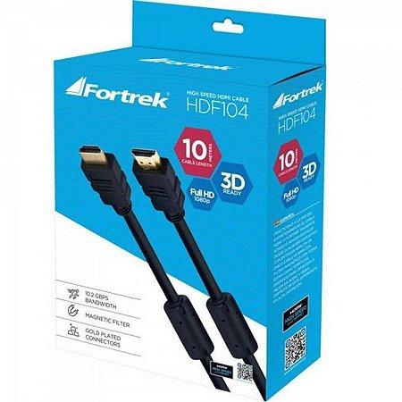 Cabo Fortrek HDMI 1.4 3D Com Filtro HDF-104 10M Preto