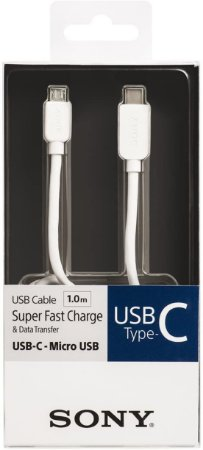 Cabo Sony USB x Micro USB CP-CB100 1,0M Branco
