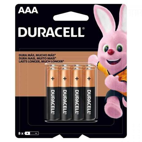 Pilha Alcalina DURACELL AAA C/8 (CAR/8)