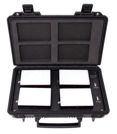 Kit 4x Aputure MC com case carregador (Travel Kit)