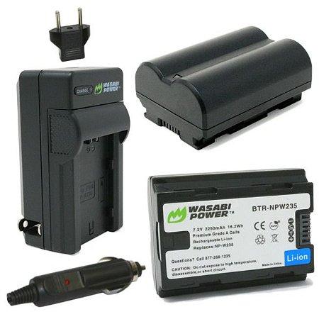 Kit 2x Bateria + Carregador Duplo Wasabi Power Fujifilm NP-W235 P/ X-T4 (Premium)