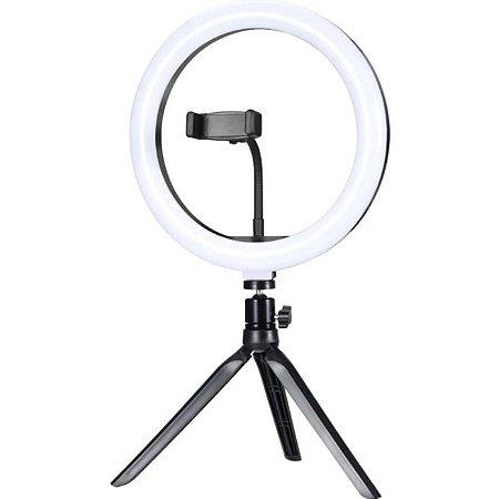 """Ring Light de Mesa LED 10"""" ILUM-R10W12 EXBOM"""