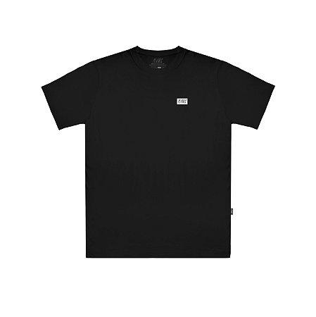 Camiseta Plano C Logo Emborrachada Preta