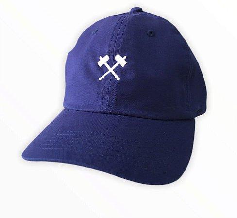 Bone Mess Marreta Dad Hat Strapback Azul