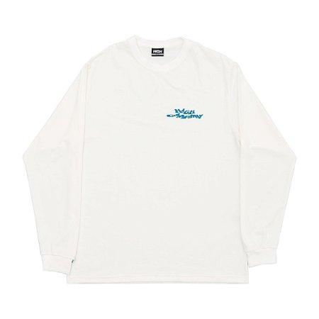 Camiseta High Screwed Manga Longa Branca