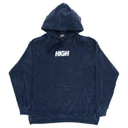 Moletom High Terry Logo Azul Marinho