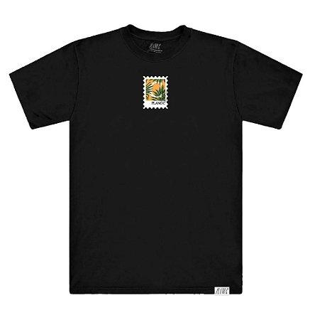 Camiseta Plano C Selo Tropical Preta