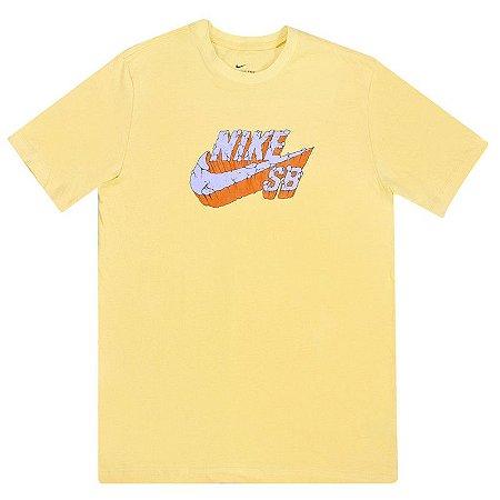 Camiseta Nike Sb Logo Amarelo