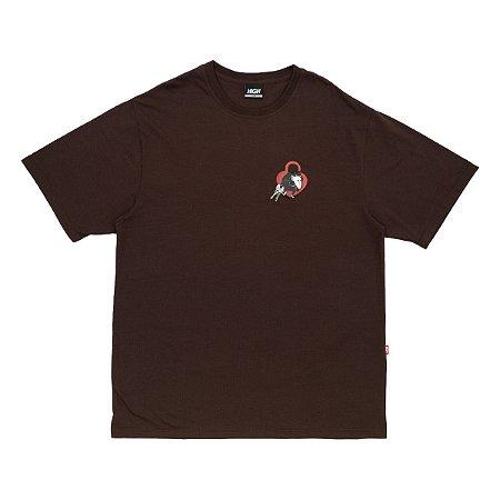 Camiseta High Locksmith Marrom