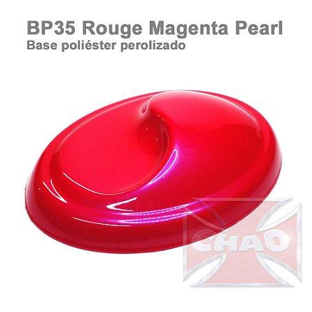 Rouge Magenta poliéster perolizada