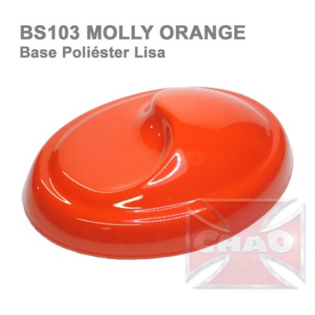 Molly Orange poliéster lisa