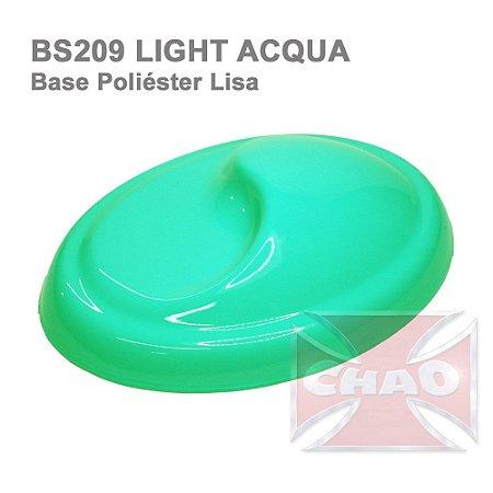 Light Acqua poliéster lisa