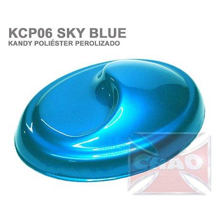 Sky Blue Kandy Perolizado Poliéster