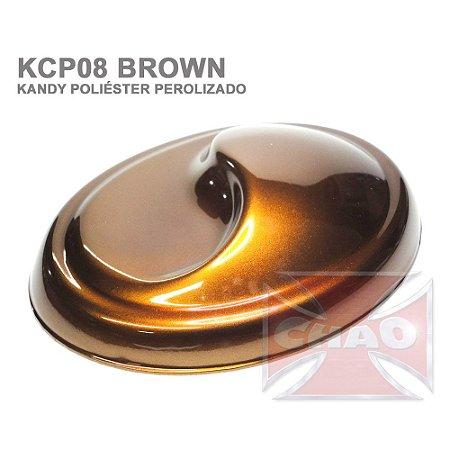 Brown Kandy Perolizado Poliéster
