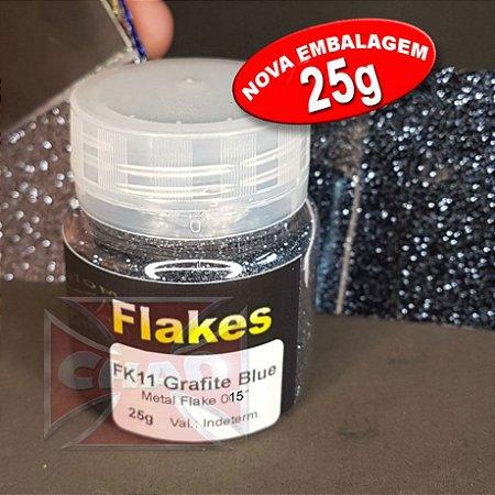 """Grafite Blue flake 015"""" 25g"""