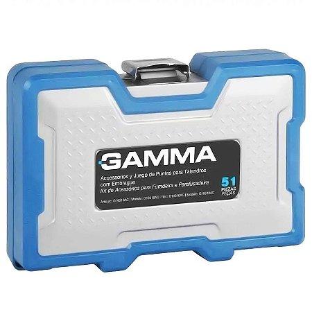 Kit de Acessórios para Furadeira e Parafusadeira com 51 Peças - GAMMA-G19513AC