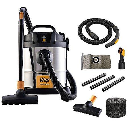Aspirador de Pó e Água 12 Litros 1400W - WAP GTW INOX 12