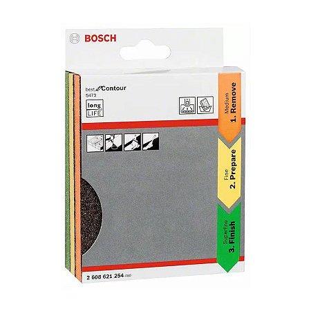 Kit Espuma Abrasiva Bosch Lixa Best for Contour com 3 Unidades 2608621254000
