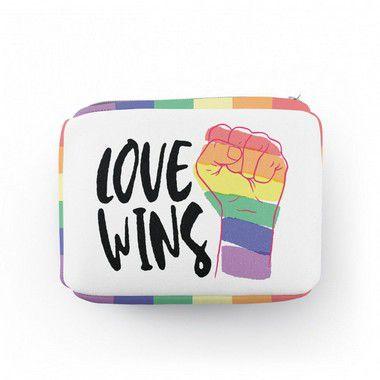 Necessaire Retangular Love Wins - Orgulho LGBT