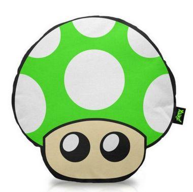 Almofada Cogumelo Verde - 1 Up - Almofada Gamer