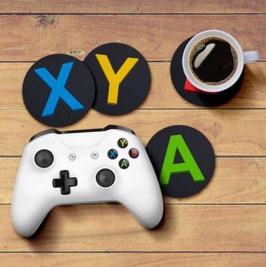 Jogo de Porta Copos Botões de Controle ABYX XBOX - 4 peças - Porta Copos Gamer