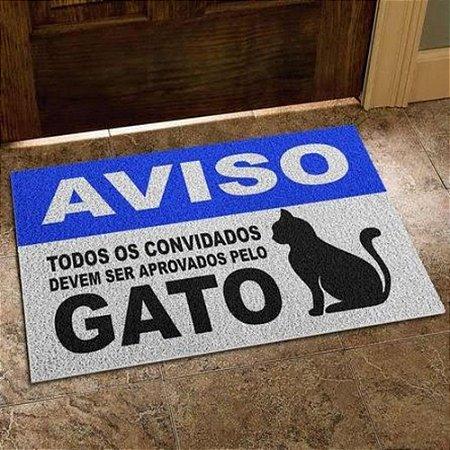 Capacho Em Vinil Aprovados Pelo Gato - 60 X 40