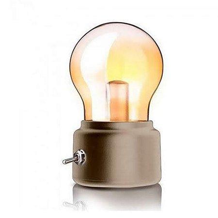 Luminária Lâmpada Gold - Dourada
