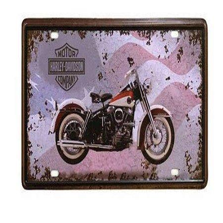 Placa De Metal Decorativa Made In The Usa - 30,5 X 15,5 Cm