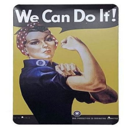 Placa De Metal We Can Do It