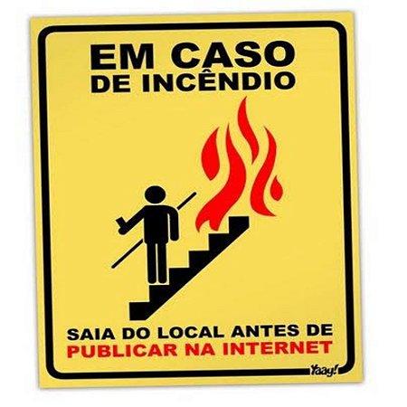 Placa Em Caso De Incêndio
