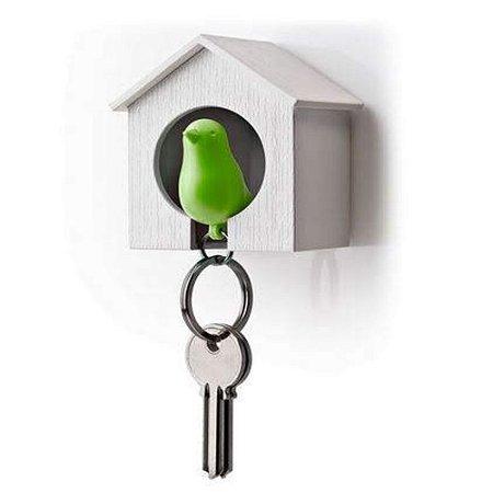 Porta Chaves Passarinho Sparrow Key Ring - Verde