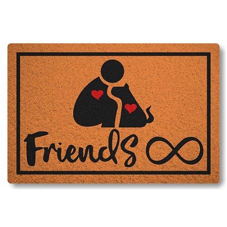 5 Capachos Linha Tapets Amizade Cao e Humano