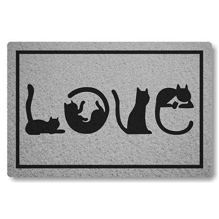 5 Capachos Linha Tapets Love Gatos