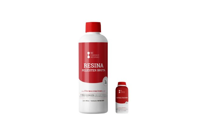 Kit Resina Poliéster Bruta - (1kg Resina + 20g Catalisador)