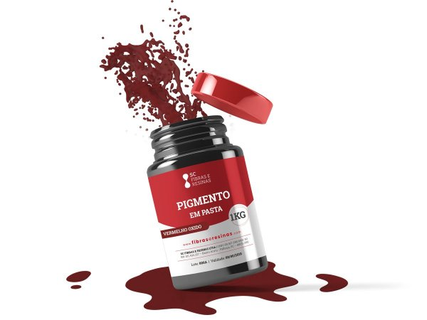 Pigmento em pasta Vermelho Oxido (1kg)