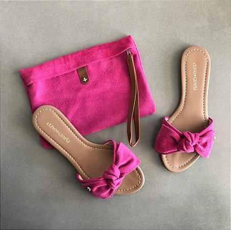 Rasteira Cravo & Canela Com Necessaire Pink