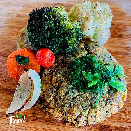 Comida Congelada – Hambúrguer Vegano com Legumes – 350g – FoodLev