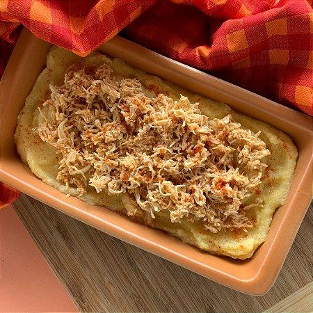 Comida Congelada – Polenta Cremosa com Frango no Tempero – 350g – FoodLev
