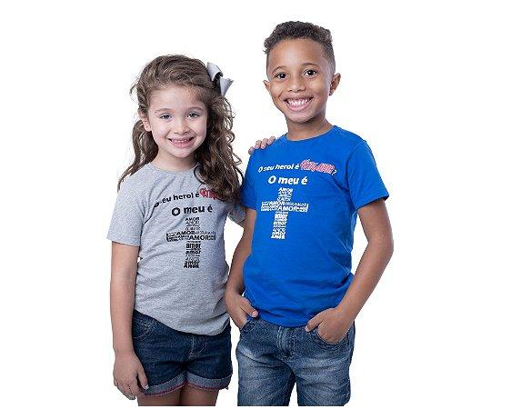 Camiseta - O Meu é AMOR (Azul)