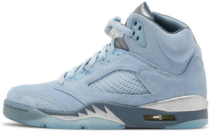 """Air Jordan 5 Retro Wmns """"Blue Bird"""" Feminino"""