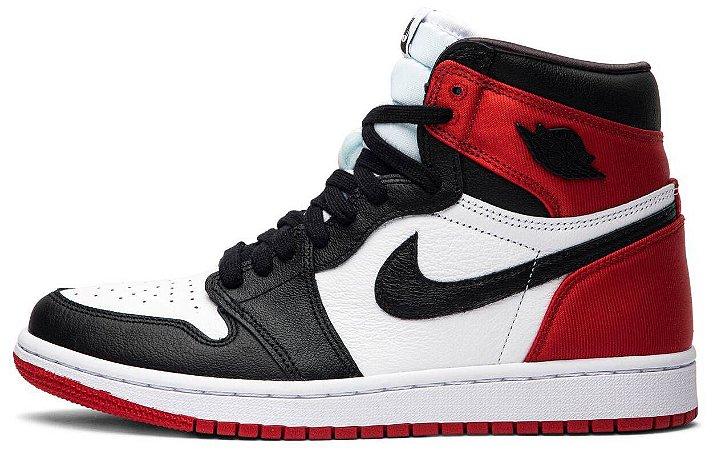 "Air Jordan 1 Retro High OG Wmns ""Satin Black Toe"" Feminino"