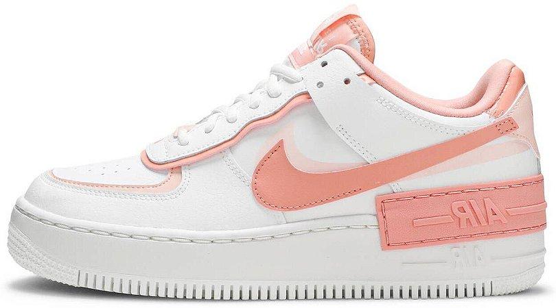 "Nike Air Force 1 Shadow ""Washed Coral"" Feminino"