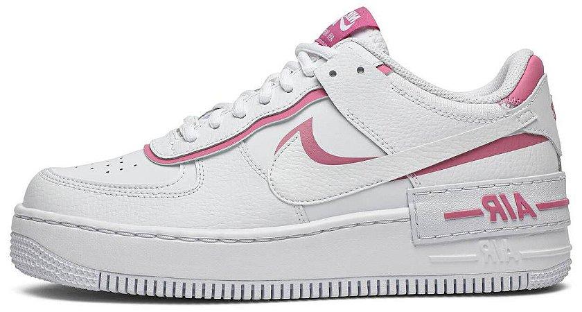 "Nike Air Force 1 Shadow ""White Magic Flamingo"" Feminino"