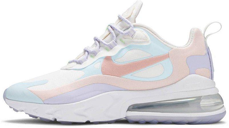 """Nike Air Max 270 React """"Sail Coral Stardust"""" Feminino"""