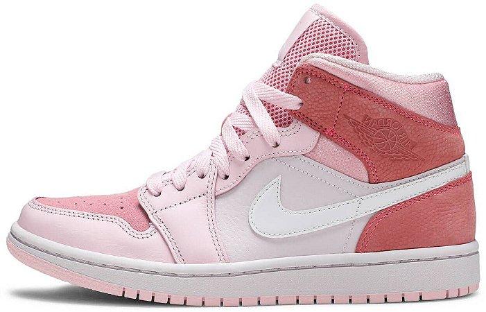 """Air Jordan 1 Mid Wmns """"Digital Pink"""" Feminino"""